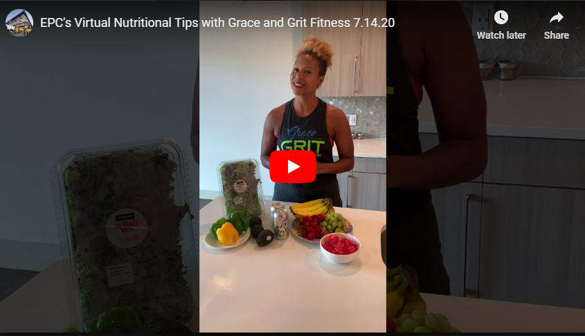 Virtual Nutritional Tips and Workout Demos with Tia of Grace and Grit Fitness