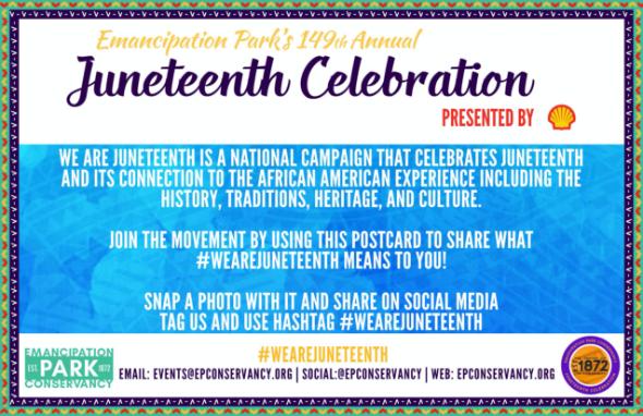 Juneteenth celebration certificate